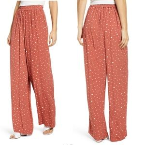 Prima printed rayon wide leg soft pants